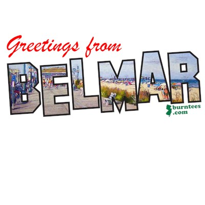 Greetings from Belmar NJ Shore t-shirt from BurnTees.com