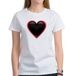Black Glossy Heart Anti Valentine Women's T-Shirt