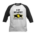 2-27 Infantry Wolfhounds Kids Baseball Jersey