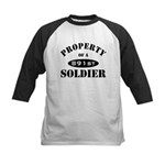 Property of a 891st Soldier Kids Baseball Jersey