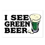 I See Green Beer St Pat's Postcards (Package of 8)