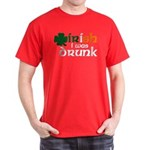 Irish I Was Drunk Tri-color Dark T-Shirt