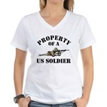 Property of a US Army Soldier Women's V-Neck T-Shi