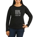 100 Percent Over Her Women's Long Sleeve Dark T-Sh