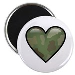 "Love Military Cammo Heart 2.25"" Magnet (10 pack)"