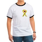Take Care of my Son Yellow Ribbon Ringer T