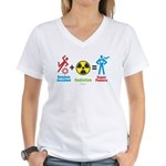 Women's V-Neck T-Shirt : Sizes S,M,L,XL