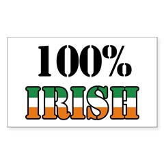 100 Percent Irish T-Shirts Sticker (Rectangle)