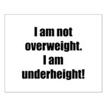 I am not overweight... Small Poster