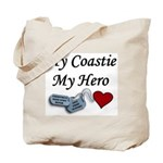 USCG Coastie Hero Dog Tags Tote Bag