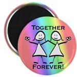 Together Forever Lesbian 2.25&quot; Magnet (10 pack)