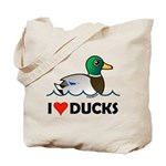 Birdorable I Love Ducks Tote Bag