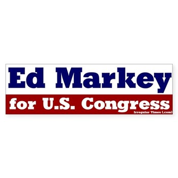 Re-Elect Ed Markey, a strong progressive voice for Massachusetts (Pro-Markey Bumper Sticker)