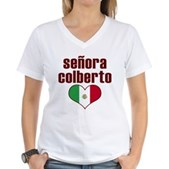Senora Colberto Women's V-Neck T-Shirt