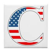 C stands for Colbert Tile Coaster