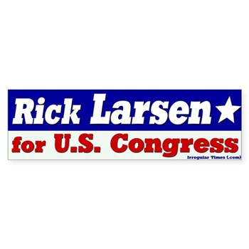 Rick Larsen for U.S. Congress bumper sticker for the Washington congressional campaign