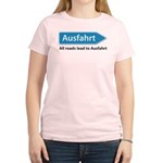 All roads lead to Ausfahrt Women's Light T-Shirt
