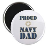 "Proud Navy Dad Military 2.25"" Magnet (10 pack)"