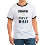 Proud Navy Dad Military Ringer T