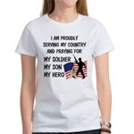 Praying for my Soldier Son Women's T-Shirt