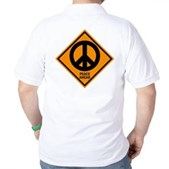 Peace Ahead Golf Shirt