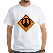 Peace Ahead White T-Shirt