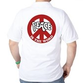Peace is the word Golf Shirt