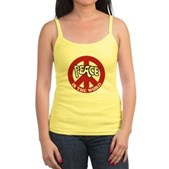Peace is the word Jr. Spaghetti Tank