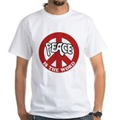 Peace is the word White T-Shirt