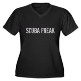 Scuba Freak Women's Plus Size V-Neck Dark T-Shirt