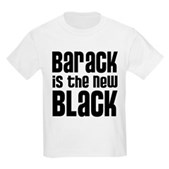 Barack is the New Black Kids Light T-Shirt
