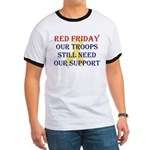 Red Friday Yellow Ribbon Ringer T