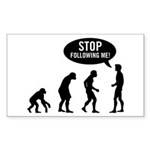Evolution is following me Sticker (Rectangle)
