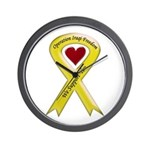 We Support You Yellow Ribbon Wall Clock