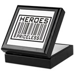 Heroes Priceless Support Our Troops Keepsake Box