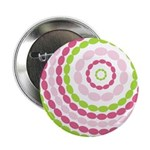 Pink Green Mod Retro Button