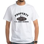 Property of a HARDCORE US Army Soldier White T-Shi