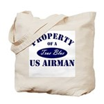 Property of a US Airman USAF Tote Bag