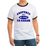 Property of a US Sailor - GO NAVY Ringer T