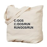 See DOS Run Tote Bag