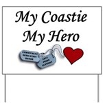 USCG Coastie Hero Dog Tags He Yard Sign