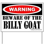 Beware Billy Goat Yard Sign