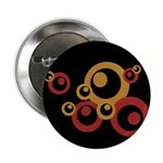 "Retro Orange Circles 2.25"" Button (10 pack)"
