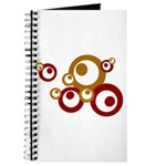 Retro Orange Circles Journal