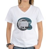Where's My Quarter? Women's V-Neck T-Shirt