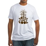 Trees Are Cool Fitted T-Shirt