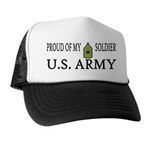 MSG - Proud of my soldier Trucker Hat