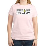 CSM - Proud of my soldier Women's Pink T-Shirt