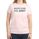 1LT - Proud of my soldier Women's Pink T-Shirt