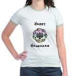 Hanukkah Chanukah Jr. Ringer T-Shirt